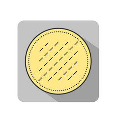 Cotton pad flat icon of hygiene products object vector