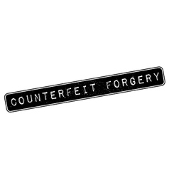 Counterfeit Forgery rubber stamp vector