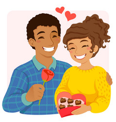 Couple on valentines day vector