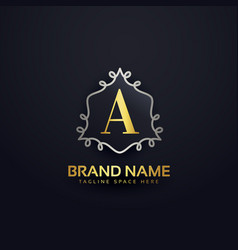 creative letter a logo template monogram vector image
