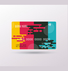credit card bright puzzle design with shadow vector image