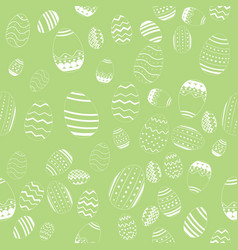 decorative easter eggs seamless pattern vector image