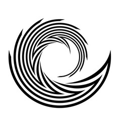 Design monochrome spiral movement element vector
