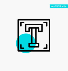 Designer font path program text turquoise vector