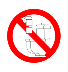Do not throw paper towels in toilet stop sign vector