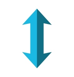 double arrow icon Direction design vector image