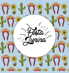 Festa junina festival to celebrate in brazil vector