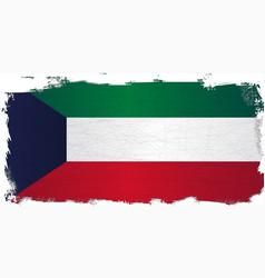 Flag of kuwait grunge vector