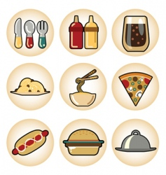 food icons vector image