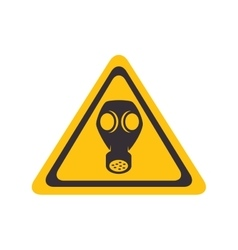 Gas yellow warning sign vector