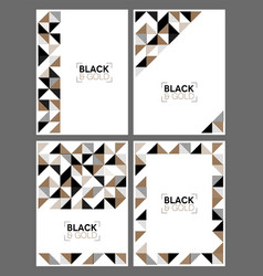 gold and black geometric templates vector image