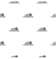 Gray mouse pattern seamless vector