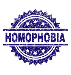 Grunge textured homophobia stamp seal vector