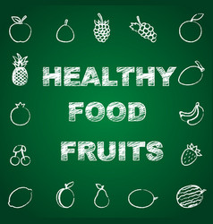 healthy fruits background vector image