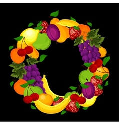 Healthy lifestyle-fruit circle vector