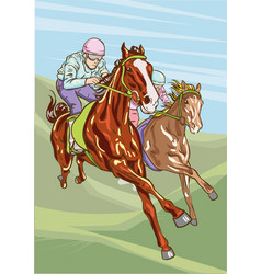 Horse racing competition vector