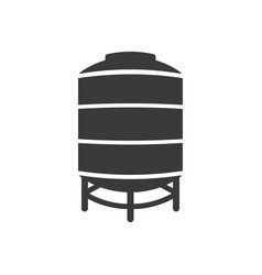 icon water tank on white background vector image