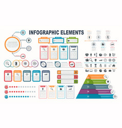 infographic elements diagram workflow layout vector image