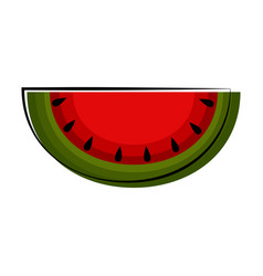isolated watermelon sketch icon vector image