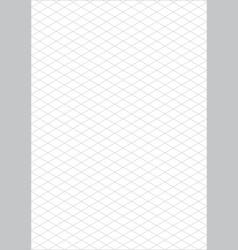 isometric grid paper a4 portrait vector image