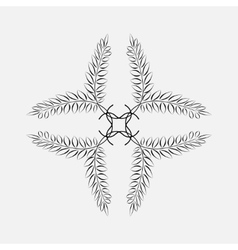 Laurel wreath tattoo Black ornament Cross sign vector image