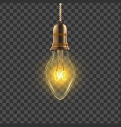 light bulb power object light bulb vector image