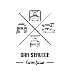 line banner car service vector image