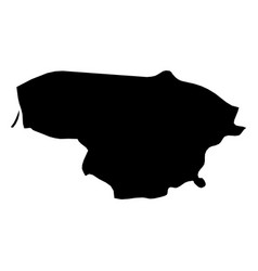 Lithuania - solid black silhouette map of country vector