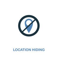 location hiding icon in two colors premium design vector image