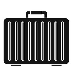 metal hand bag icon simple style vector image