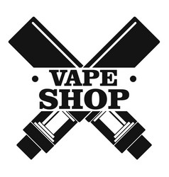 Modern vape shop logo simple style vector