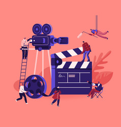 Movie making process concept operator using vector