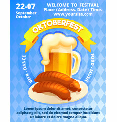 oktoberfest festival concept banner cartoon style vector image