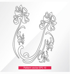 Ornament and decor design elements decoration of vector