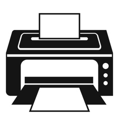 Printer icon simple style vector