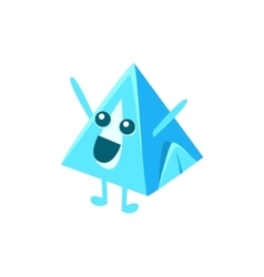 Pyramid milk carton character vector
