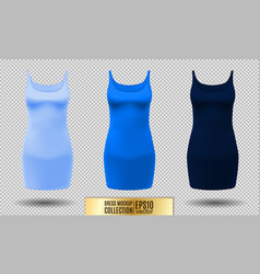 realistic detailed 3d women dress mock up light vector image