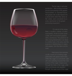 Realistic glass of red wine vector image