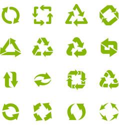 Recycle arrows garbage circular recycling icons vector