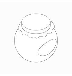 Round jar icon isometric 3d style vector image