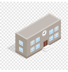 school building isometric icon vector image