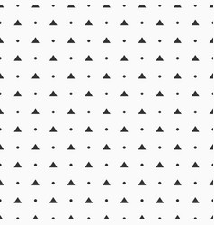 seamless pattern simple polka dots and triangles vector image