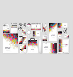 set kit collection corporate identity vector image