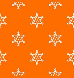 sheriff star pattern seamless vector image