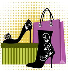 shoes shopping vector image vector image