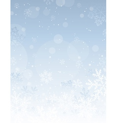 silver christmas background with snowflakes vector image