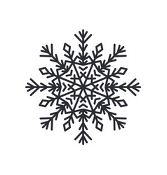 snowflake silhouette colorless vector image