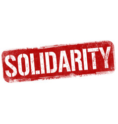 solidarity grunge rubber stamp vector image