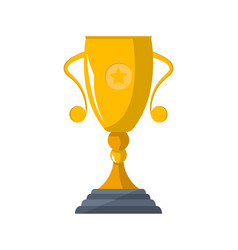 sport competition winner cup isolated icon vector image
