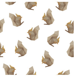 Squirrel triangle seamless pattern backgrounds vector